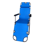 Foldable Zero G Camping Chair - Blue - ALEKO