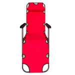 Foldable Zero Gravity Camping and Lounge Chair - Red - ALEKO