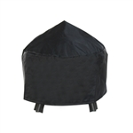 Heavy Duty Fire Pit Cover - Black - 28 x 13 Inches - ALEKO