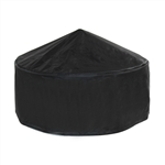 Heavy Duty Fire Pit Cover - Black - 32 x 12 Inches - ALEKO