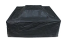 Heavy Duty Fire Pit Cover - Black - 32 x 32 x 18 Inches - ALEKO
