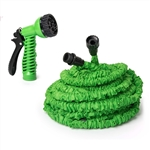 ALEKO GH75 Expandable Lawn Garden Hose 75 Foot with 6-way Spray Nozzle Hose, Green