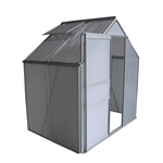 Aluminum Walk-In Polycarbonate Outdoor Greenhouse - 52 x 75 x 77 inches - ALEKO