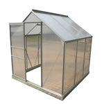 Aluminum Walk-In Polycarbonate Outdoor Greenhouse - 77 x 75 x 77 inches - ALEKO