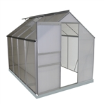 Aluminum Walk-In Polycarbonate Outdoor Greenhouse - 98 x 75 x 77 inches - ALEKO