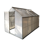 Aluminum Walk-In Polycarbonate Outdoor Greenhouse - 122 x 75 x 77 inches - ALEKO