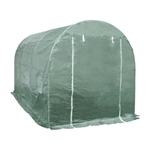 ALEKO  GHT12X7X7 Spacious Waterproof Poly-Tunnel Walk In Garden Greenhouse Shed