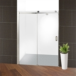 Glass Sliding Shower Door - 48 x 72 Inches - Stainless Steel - ALEKO