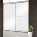 Glass Dual Sliding Shower Door - 60 x 76 Inches - Brushed Nickel - ALEKO