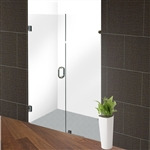 Glass Hinge Shower Door - 60 x 76 Inches - Chrome - ALEKO