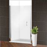 Glass Pivot Shower Door - 48 x 72 Inches - Chrome - ALEKO