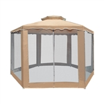 ALEKO GZ2RWN6X6X6SD Double Roof Hexagon Gazebo