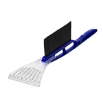 ALEKO ICB02BLUE Tough Ice Scraper with Snow Brush Long Handle Durable No-Scratch Scraper Defroster, Blue