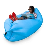 Inflatable Lounger/Pool Float - 75 x 30 Feet - Sky Blue - ALEKO