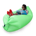Inflatable Lounger/Pool Float - 75 x 30 Feet - Green - ALEKO