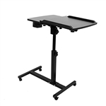 Adjustable Laptop Standing Desk - 24 x 16 Inches - Black - ALEKO