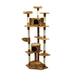 ALEKO® MP-03 80 inch Height Cat Tree Condo Scratching Post<br>Colors: Beige, Cream
