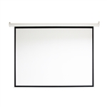 Motorized Drop Down Projector Screen 16:9 with Remote Control - 92 Inches - ALEKO