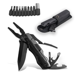 Stainless Steel Multi-Functional Plier Tool - 1.3 x 3.5 inches -  Black - ALEKO