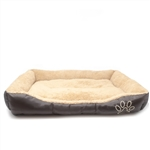 ALEKO® PB01 Soft Comfy Pet Mat Plush Cushion Bed, Beige