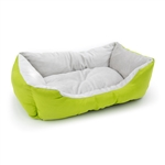 ALEKO® PB06GR 20 X 16 X 6 Inch (51 X 41 X 15 cm) Soft Plush Pet Cushion Crate Bed, Green