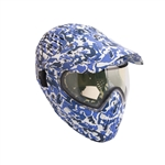 ALEKO  PBFCCM57BL Full Head Paintball Mask Full Coverage Protection Gear With Anti Fog Lens, Blue Camouflage