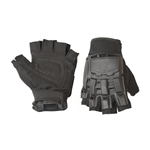 ALEKO PBHFG44 Paintball Airsoft Outdoor Sports Half Finger Black Gloves (Choose your size)