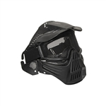 Airsoft Full Face Mask with Double Elastic Strap - Black - PBM207BK