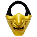 ALEKO  Airsoft Neoprene Protective Half Face Mask, Gold