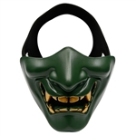 ALEKO  Airsoft Neoprene Protective Half Face Mask, Green