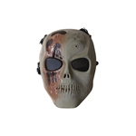 ALEKO  PBSSM19OL Skull Skeleton Airsoft Mask With Wire Mesh Goggles Tactical Paintball Airsoft Protective Safety Mask, Olive