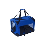 ALEKO Heavy Duty Portable Collapsible 19 X 14 X 13.5 Inches (48.3 X 35.6 X 34.3 cm) Pet Traveler Carrier (Choose your color)