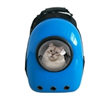Astronaut Bubble Window Hard Shell Pet Backpack - Blue Shell - ALEKO