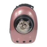 Astronaut Bubble Window Hard Shell Pet Backpack - Pink Shell - ALEKO
