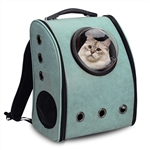 Window Astronaut Dome Pet Backpack - Light Blue Green - ALEKO