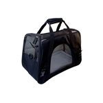 ALEKO PCBBK Luxurious Heavy Duty Portable Foldable Pet Traveler Carrier with Soft Cozy Insert Mat, Black