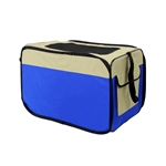 Heavy Duty Portable Pop Up Pet Crate Shelter Carrier - X-Large Size - Blue - ALEKO