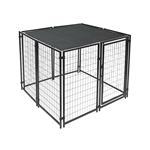 ALEKO 5 X 5 Feet Dog Kennel Shade Cover with Aluminum Grommets, Black