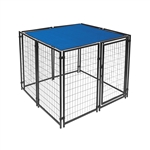 ALEKO 5 X 5 Feet Dog Kennel Shade Cover with Aluminum Grommets, Blue