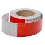 Reflective Red and White Safety Tape - 2 Inch x 50 Ft