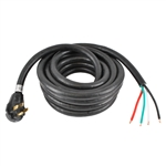 "ALEKO® RV50-30 30' (9.2m) 50Amp Power Cable With Regular male plug and 6"" loose end"