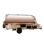 Retractable RV/Patio Awning - 12 x 8 Feet - Brown Fade - ALEKO