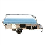 Retractable RV/Patio Awning - 21 x 8 Feet - Blue Fade - ALEKO