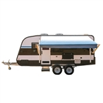 Motorized Retractable RV/Patio Awning - 12 x 8 Feet - Blue Fade - ALEKO