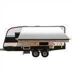Motorized Retractable RV/Patio Awning - 12 x 8 Feet - Grey - ALEKO