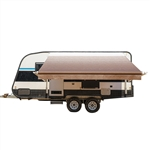 Motorized Retractable RV/Patio Awning - 16 x 8 Feet - Brown Fade - ALEKO
