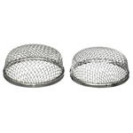 Stainless Steel RV Bug Vent Screen - 2.8 x 1.2 Inches - Lot of 2 - ALEKO