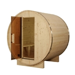 ALEKO SB4PINEB5 4 Person Outdoor and Indoor White Pine Wood Barrel Sauna with ETL Electrical Heater