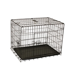 Dividable Folding Dog Cage With ABS Tray - 3-Door - 42 Inches - ALEKO