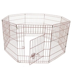 Small 8 Panel Dog Kennel - 42 Inches - Pink - ALEKO